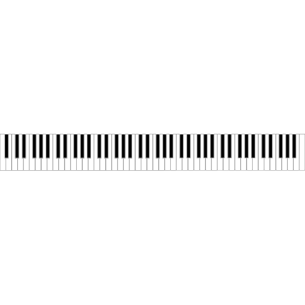 Standard 88 Key Piano Keyboard PNG clipart