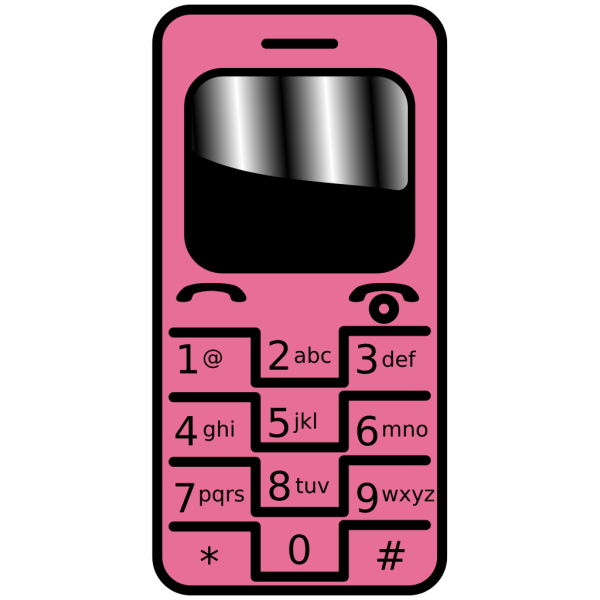 Pink Cell Phone PNG Clip art