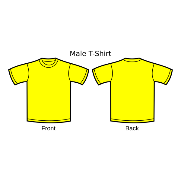 Yellow T-shirt PNG Clip art