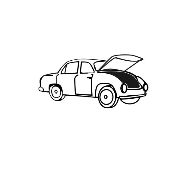 Car With Open Hood PNG Clip art