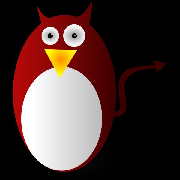 Devil Penguin Cartoon PNG Clip art