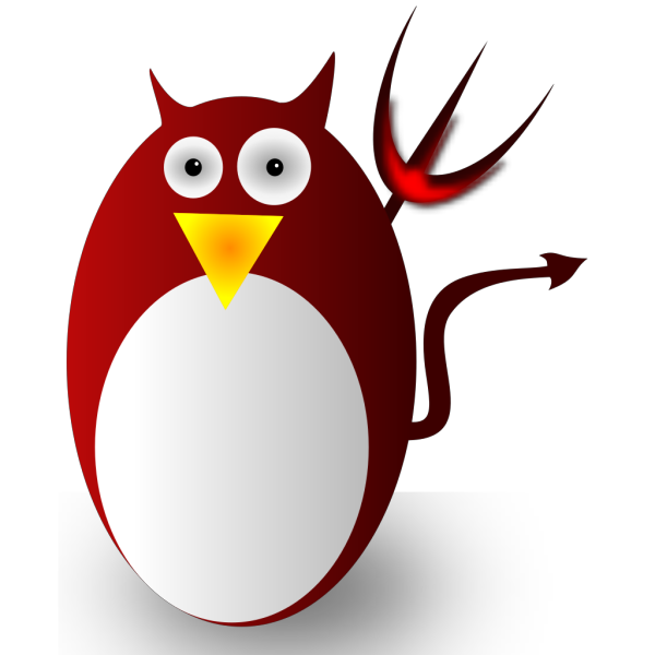 Cartoon Penguin Deviil PNG Clip art