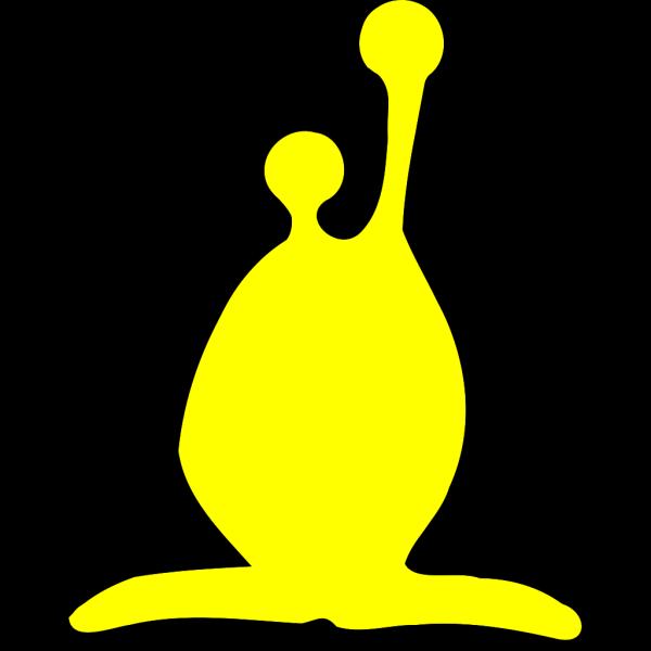 Cartoon Alien Yellow PNG Clip art