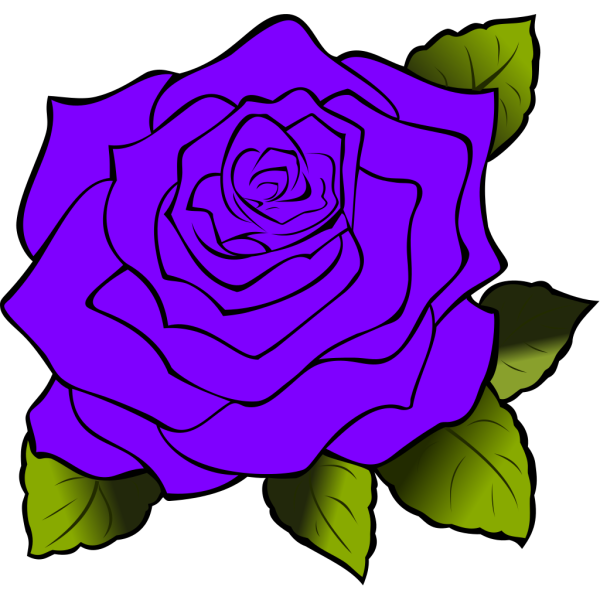 Purple Rose PNG Clip art