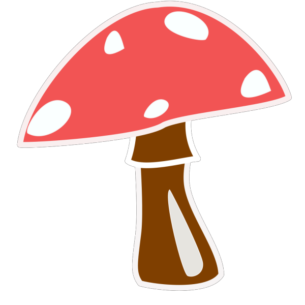 Red Top Mushroom No Letter PNG Clip art