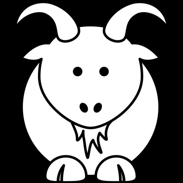 Cartoon Goat Bw PNG Clip art