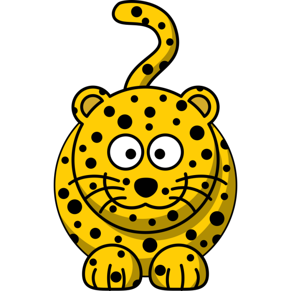 Studiofibonacci Cartoon Leopard PNG Clip art