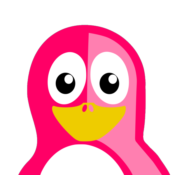 Pink Penguin PNG Clip art