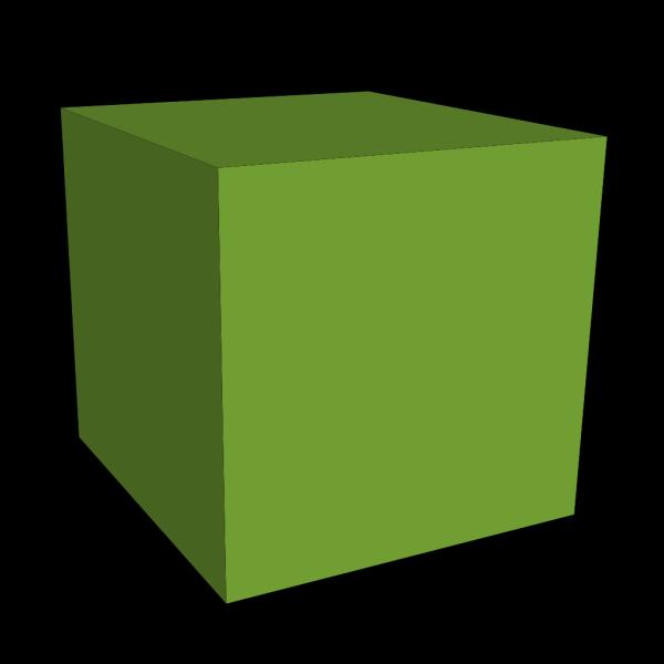 Green Cube PNG Clip art