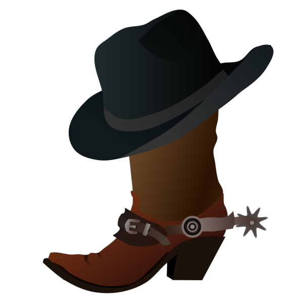 Cowboy Boot And Hat PNG Clip art