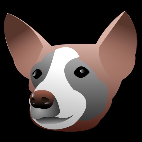 Dog Head Portrait PNG Clip art