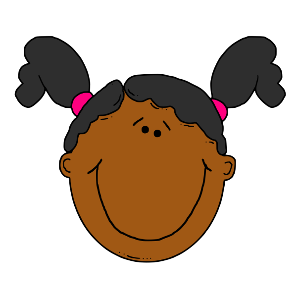 Teenage Girl Cartoon Face PNG Clip art