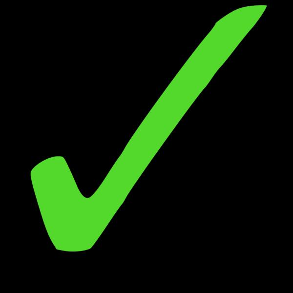 Bright Green Tick PNG Clip art