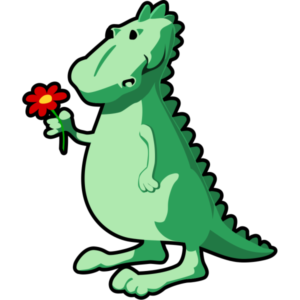 Dragon With Flower PNG Clip art