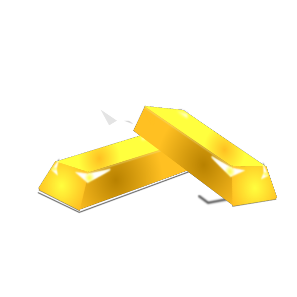 Gold Bricks PNG Clip art