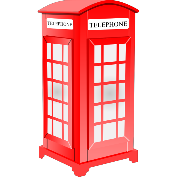 British Phone Booth PNG clipart