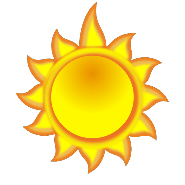 A Sun Cartoon With A Long Ray PNG Clip art