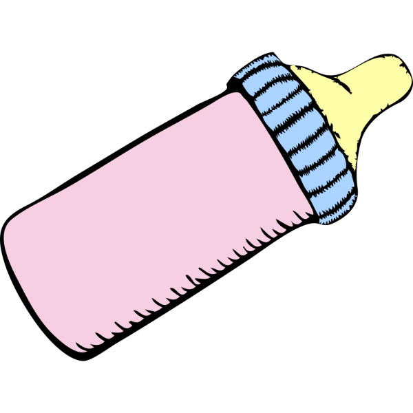 Baby Pink And Blue Bottle PNG Clip art