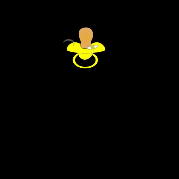 Pacifier Yellow PNG Clip art