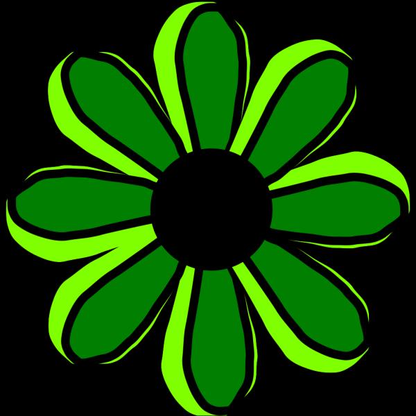 Green Flower 2 PNG Clip art