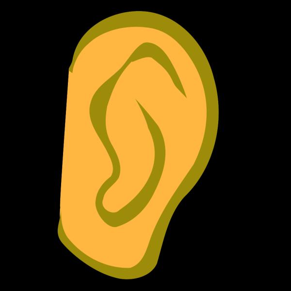 Ear - Gold PNG Clip art