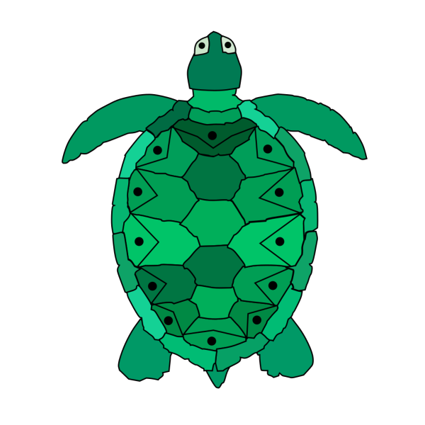 Teal Sea Turtle PNG Clip art