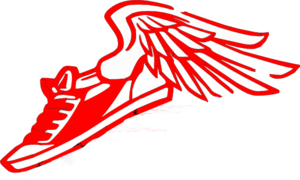 Running Shoe With Wings PNG Clip art