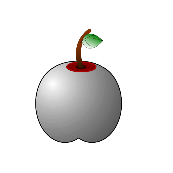 Red Apple With A Worm PNG Clip art