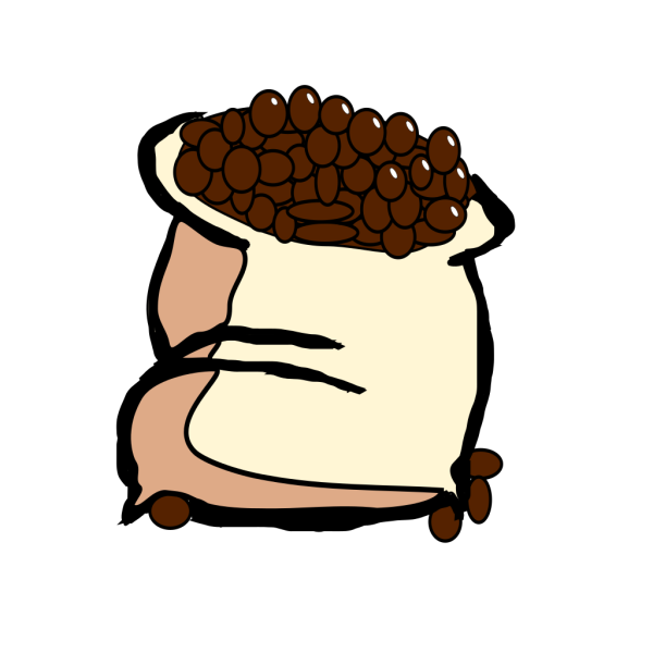 Bag Of Coffee Beans PNG Clip art
