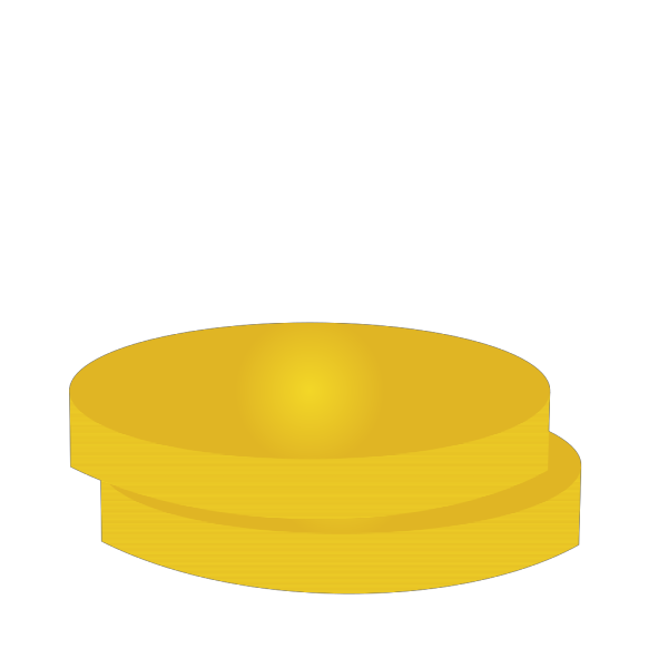 Two Gold Coins PNG Clip art