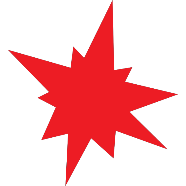 Red Star Clipart PNG images
