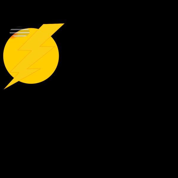 Thunder Bolt Plain PNG Clip art