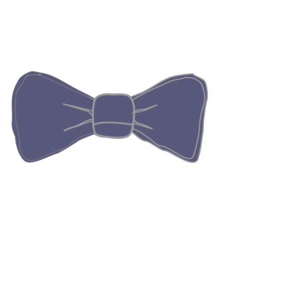 Bow Tie Periwinkle PNG Clip art