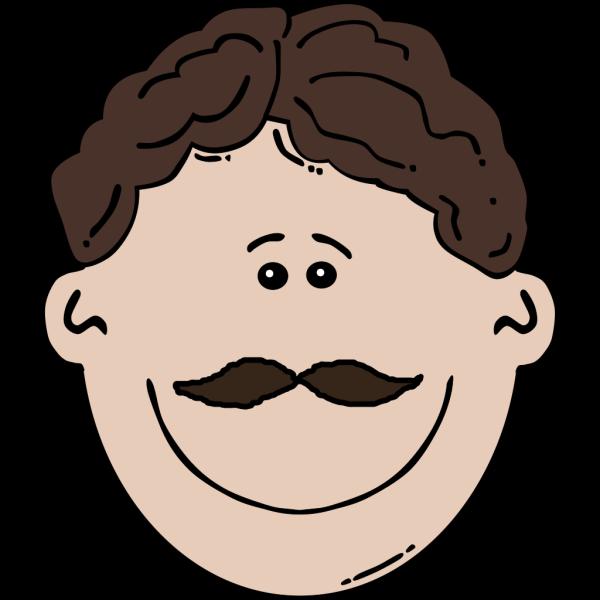 Smiling Mustache Man PNG Clip art
