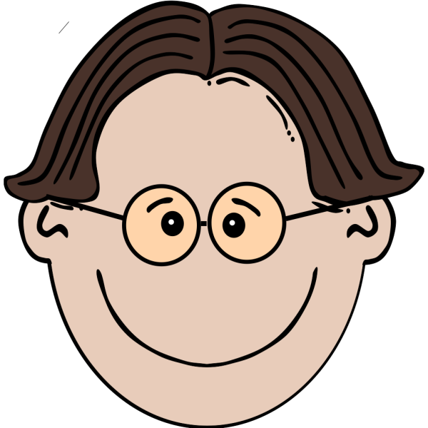 Smiling Boy With Glasses PNG Clip art