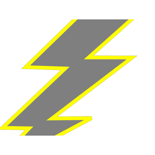 Black Lightning Bolt PNG Clip art