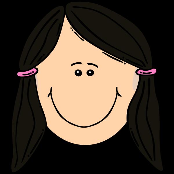 Smiling Dark Hair Girl PNG Clip art