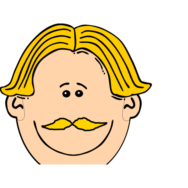 Smiling Man With Blond Hair And Mustache PNG Clip art