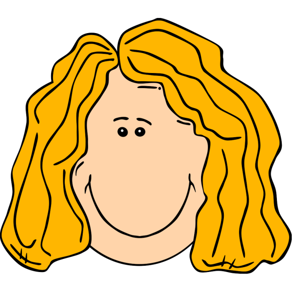 Smiling Blond Lady With Long Hair PNG Clip art