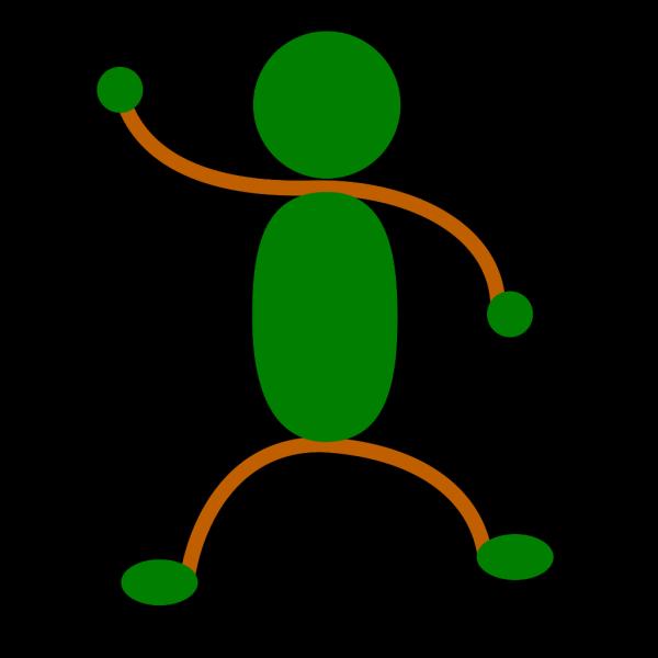 Stickman Color PNG Clip art
