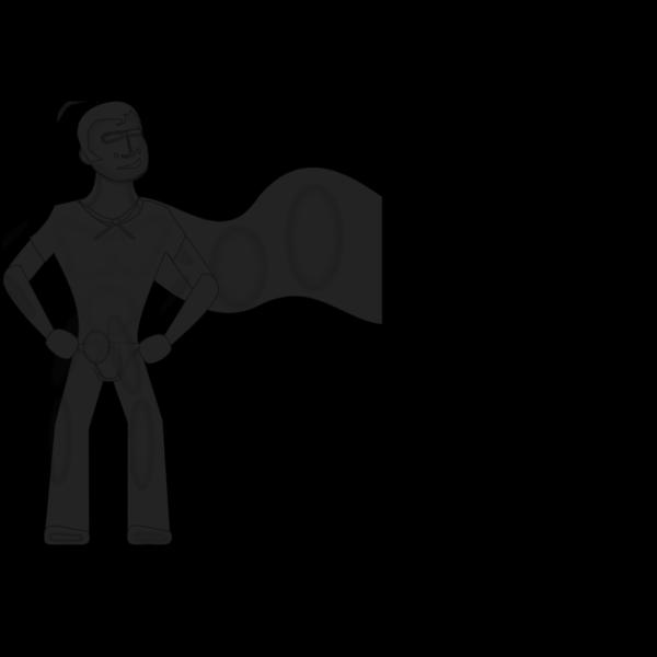 Grey Super Hero PNG Clip art