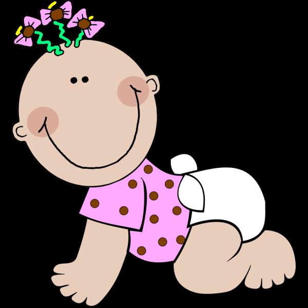 Baby Girl Polka Dot PNG Clip art