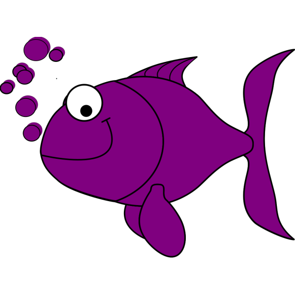 Purple Fish PNG Clip art