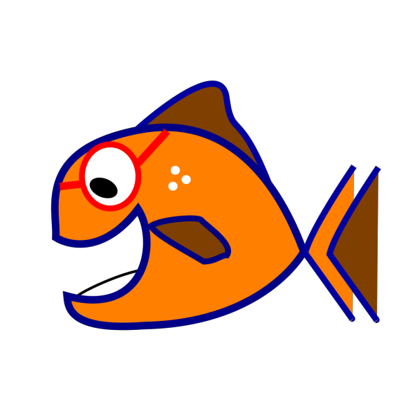 Orange Fish PNG Clip art