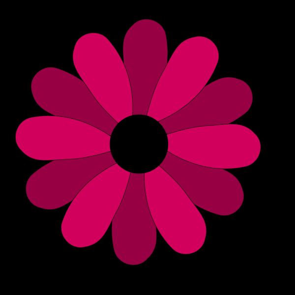 Pink Gerbera Twotone PNG Clip art