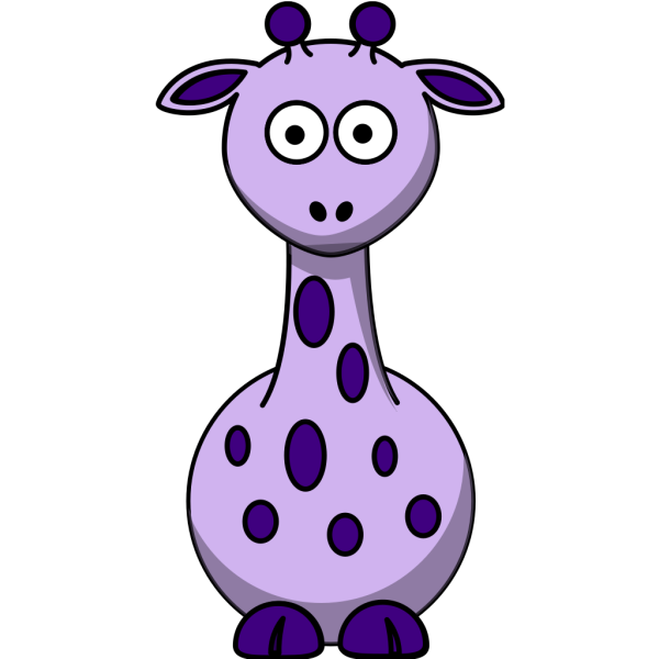 Purple Giraffe With 12 Dots PNG Clip art