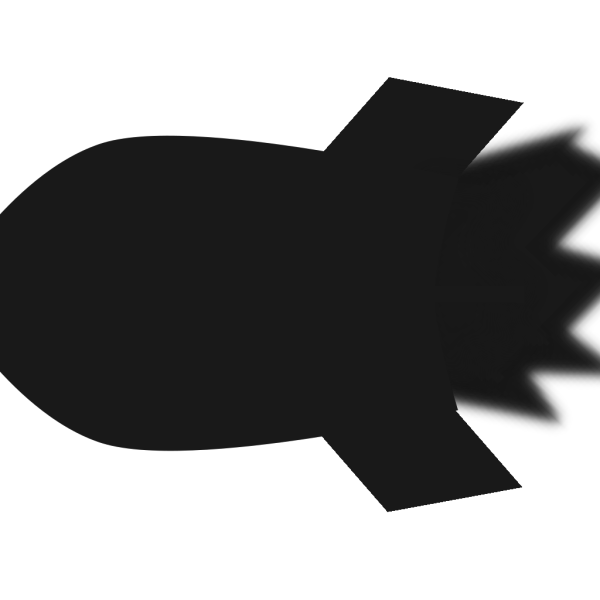 Black And White Rocket PNG Clip art