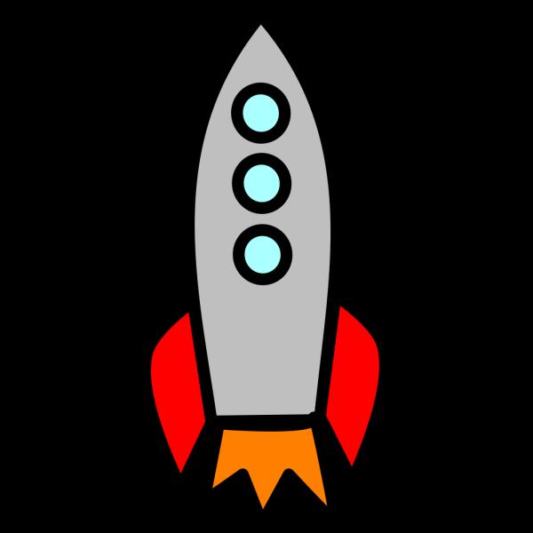 Big Rocket Blast Off Fat-large PNG Clip art