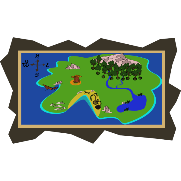 Schein Treasure Map PNG Clip art