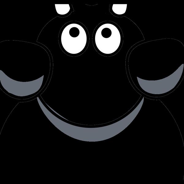 Elephant Top View 2c PNG Clip art